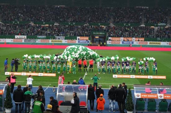 Rapid Wien gegen Austria Wien, das 315. Wiener Derby im Ernst Happel Stadion